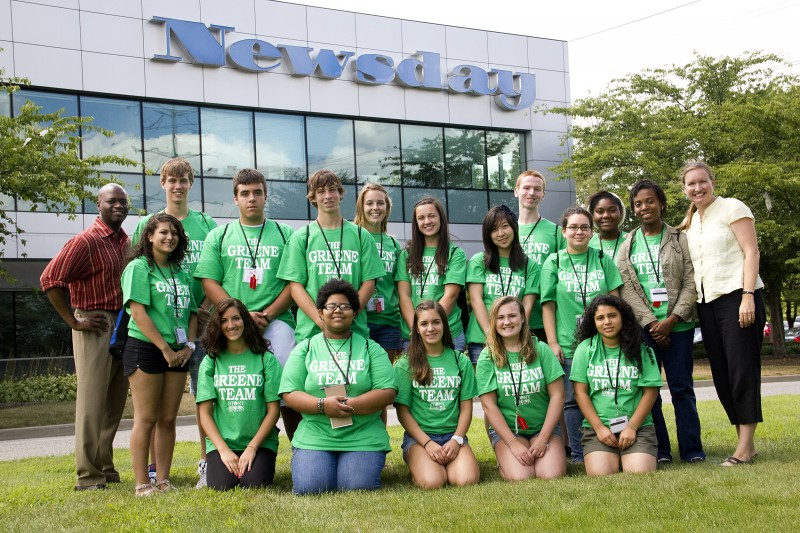 The 2011 Greene Team visits Newsday in Melville, N.Y. on Wednesday, July 27, 2010.