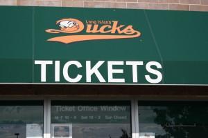 Ducks ticket booth
