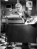 Bob Greene at his desk