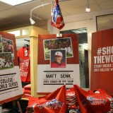 A section of the School Store dedicated merchandise for the Stony Brook University Baseball team on July 25, 2012 after the team made it into the College World Series.
