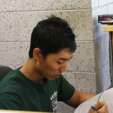 Andrew Kim, a campus recreation employee at work on July 25, 2012. Photo by Hannah Fagin