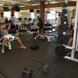 Stony Brook University students stay in shape by using the current gym facility on July 25, 2012. Photo by Hannah Fagin