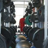 Students use the new Dubin Center facilities to work out. Photo by Alexandra Henaghan on Wednesday, July 25, 2012