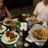 Families can choose from a wide variety of food at the Duck Club Restaurant and Bar. Photo by Darrell Jones