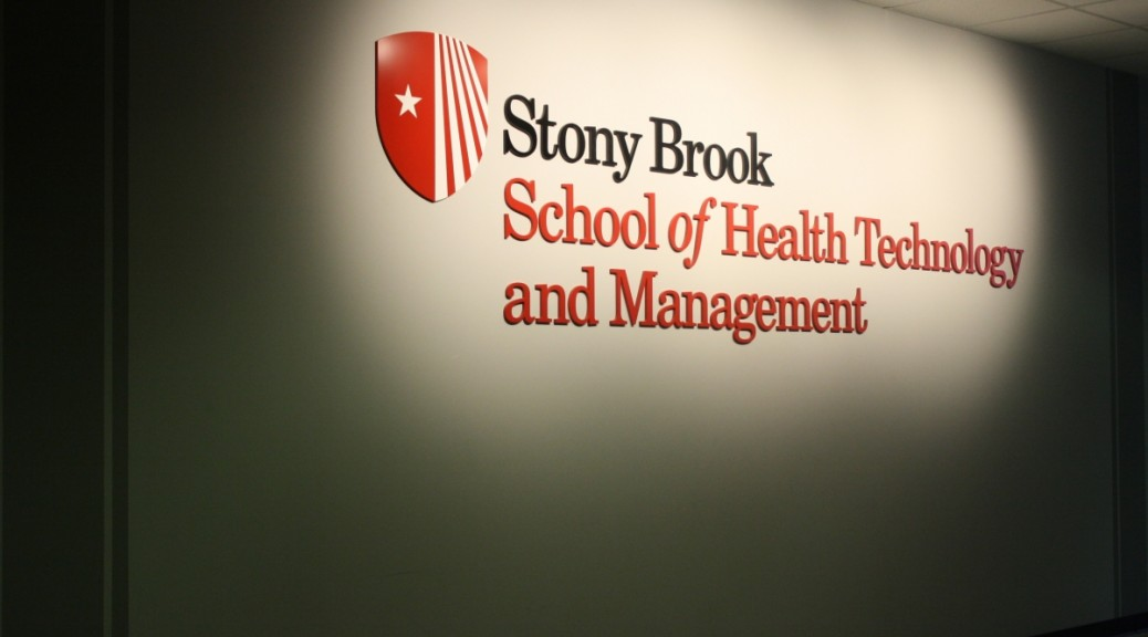 Outside the Stony Brook School of Health Technology and Management (Leslie Perez)