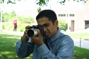 Capturing Prof. Ahmad capturing students. Photo by Jason Reid.