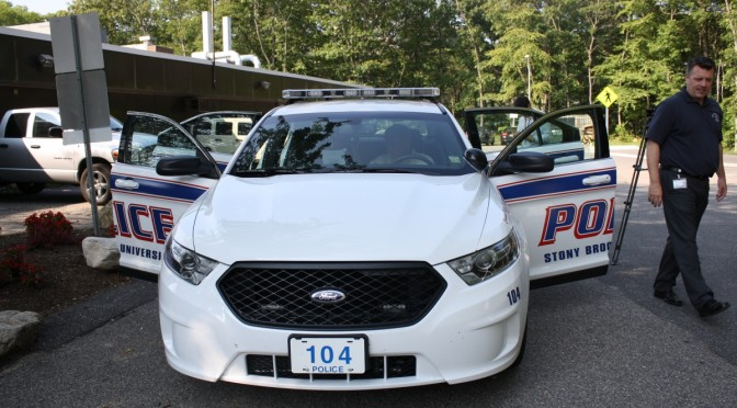 The Stony Brook Police department's new Ford Sudan's are an update to the old crown Victoria's that the police have been using. (Courtney Taylor)