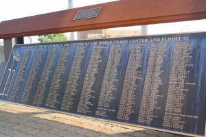 The 9/11 Memorial at Bathpage Ballpark honors the 490 Long Islanders who lost the lives in the September 11 attacks. (Kayla Aponte)