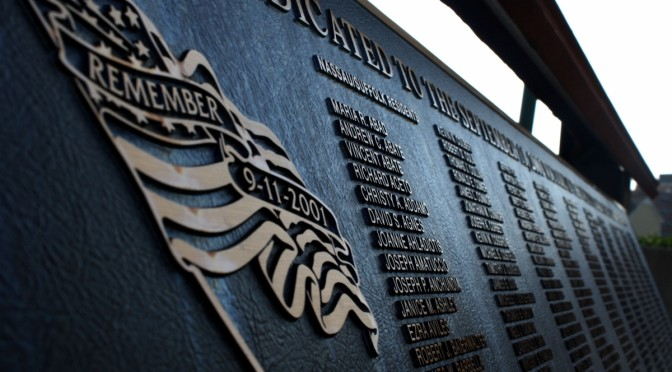 The 9/11 Memorial at Bethpage Ballpark was built in 2012 in t he memory of Long Island Victims of the attacks. (Kayla Aponte)