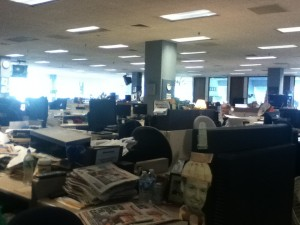 Newsday cubicles. Photo Cred: Hanna Da'Mes
