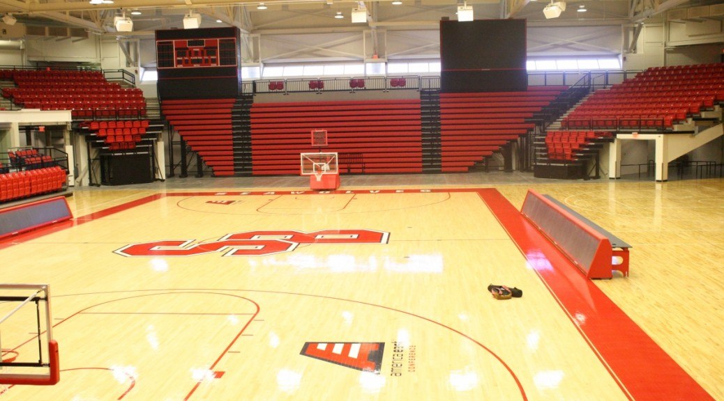 A photo of  the new Stony Brook Arena at Stony Brook University on Tuesday, July 22, 2014. Photo by Hanna Da'Mes.