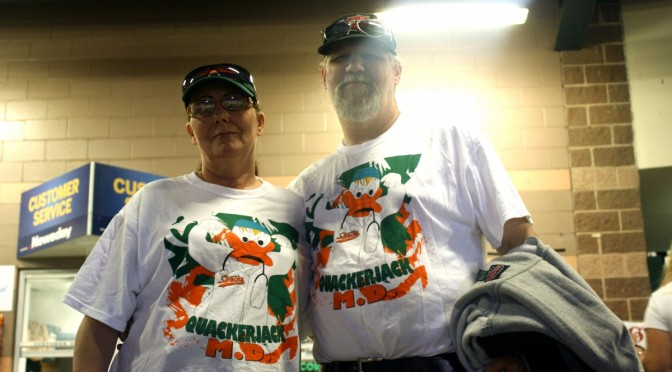 Two Ducks fans, Louise and Dan, attened the Ducks game on July 23rd, 2014. (Noelia Vazquez)