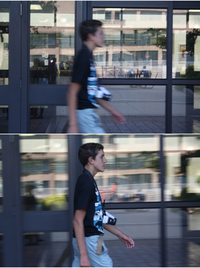 panning your subject