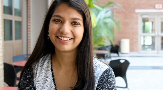 Ruchi Shah is a junior at Stony Brook University where she is currently in the pre-med track and minoring in journalism. While there she developed a mosquito repelant and she was featured in IMPACT magazine's top 30 under 30. (Sharon Ahmed)