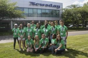 The Greene Team outside Newsday.